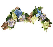 As Is Hydrangea Burlap Garland by Valerie - H206717