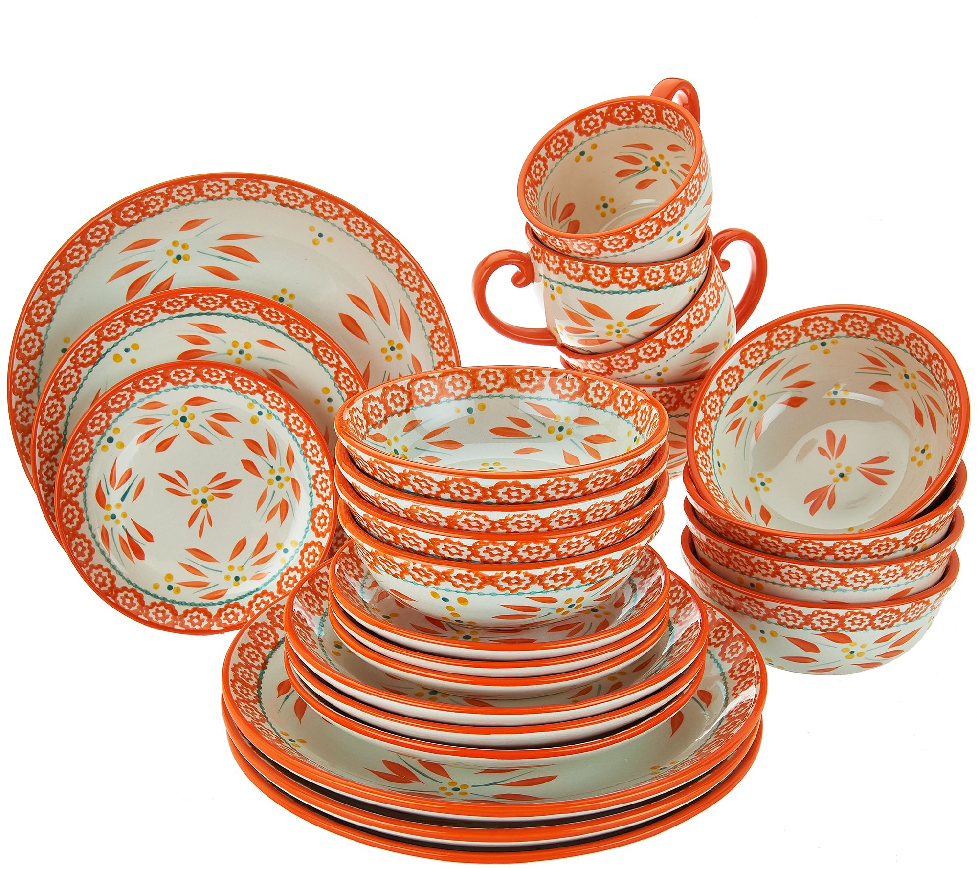 Temptations 24 Piece Old World Service For 4 Dinnerware Set   Page 1 U2014  QVC.com