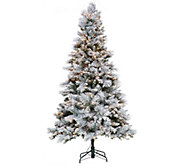 Hallmark 7.5 Snowdrift Spruce Tree with Quick Set Technology - H208817