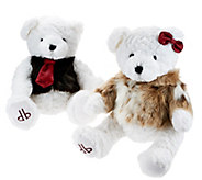 As Is Dennis Basso Set of 2 His and Her Teddy Bear Couple - H211017