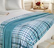Berkshire Blanket Twin Velvet Soft Plaid Blanket - H211317