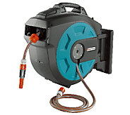 Gardena Auto Roll Up Swivel Hose Reel with 82Hose - H283317