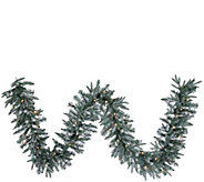 9  Prelit Frosted Crystal Balsam Garland by Valerie - H286917