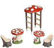 Plow & Hearth Mushroom Fairy Garden Set - H287017