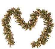Kringle Express 9 x 10 Glittering Pine Memory -Shape Garland - H287117