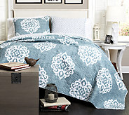 Sophie 3-Piece Blue King Quilt Set by Lush Decor - H287517