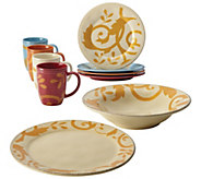 Rachael Ray Gold Scroll 10-Piece Holiday Serving Set - H287717