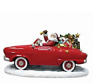 Limited Edition Santa In Red Car Figurine by Pipka - H292917