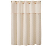 Hookless Modern Mosaic Embroidery Shower Curtain and Liner - H293717