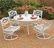 Home Styles Biscayne 5-Piece Outdoor Set w/ Swivel Chairs - H358317