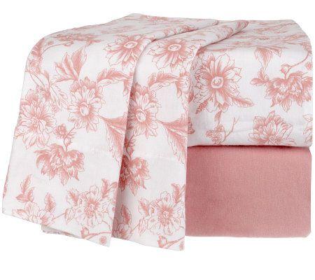 northern nights estelle 100 cotton flannel king sheet set. Black Bedroom Furniture Sets. Home Design Ideas