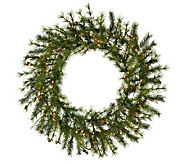 48 Prelit Mixed Country Pine Wreath by Vickerman - H143018