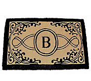 Bristol Monogram Handwoven Coconut Fiber Mat 48 x 30 - H169718