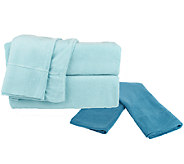 Malden Mills Polar Fleece Sheet Set with Extra Contrast Pillowcases - H202918