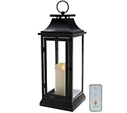 Luminara 19 Heritage Indoor Outdoor Lantern with Flameless Candle & Remote - H205418