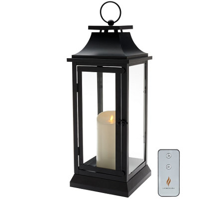 Luminara 19 Heritage Indoor Outdoor Lantern With Flameless Candle