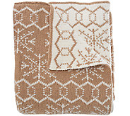 ED On Air 50 x 60 Fair Isle Sweater Knit Throw by Ellen DeGeneres - H206318