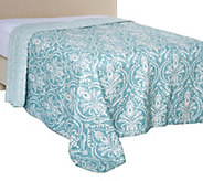 Verona 100Cotton Damask Print Twin Quilted Bedspread - H212618