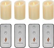 Luminara Set of 4 5 Flameless Candles with Remotes - H212718