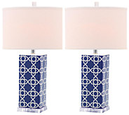 Set of 2 Quatrefoil Table Lamps by Valerie - H284918