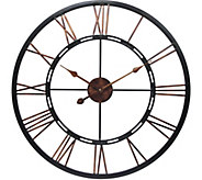 Metal Fusion 28 Oversized Round Wall Clock byInfinity - H290918