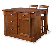 Home Styles Aspen Kitchen Island and 2 Stools - H353918