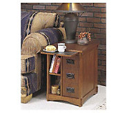 Powell Mission Oak Magazine Cabinet Table - H118919
