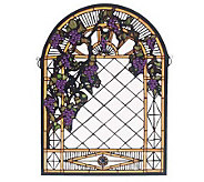 Meyda Tiffany Style Grape Diamond Window Panel - H123519
