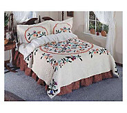 Limited Edition Birds of Paradise Twin Size Handcrafted Quilt - H123619