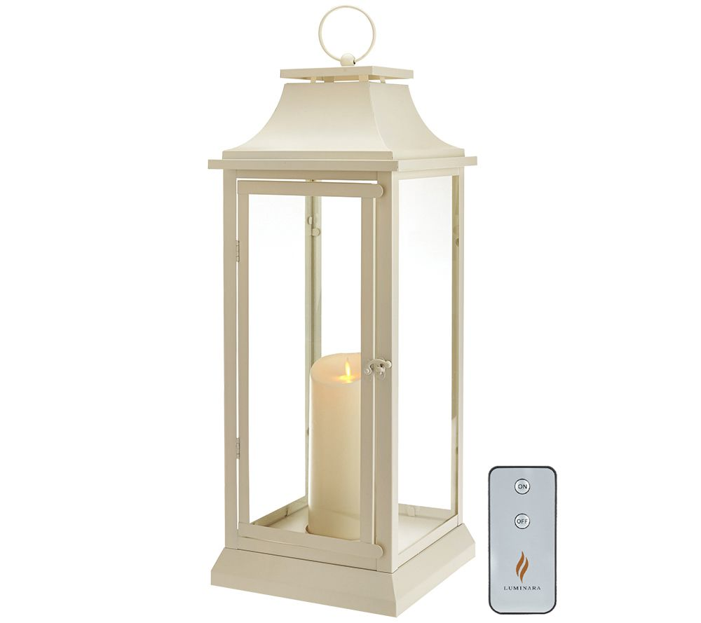 "Indoor Lantern Lights: Luminara 25"" Heritage Indoor Outdoor Lantern With"
