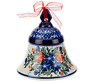 Lidias Polish Pottery Stoneware Large Bell Collectible - H206119