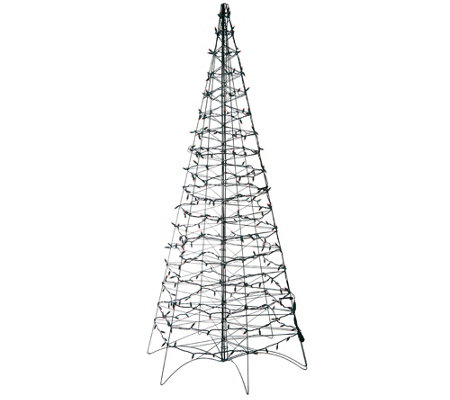 Pre Lit LED 6 Fold Flat Outdoor Christmas Tree by Lori Greiner —