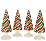Set of 4 8 Whimsical Swirl Design Trees by Valerie - H208719