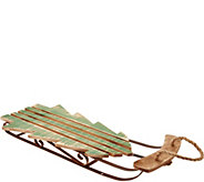 Plow & Hearth 27 Wooden Tree Shaped Sleigh with Rope Hanger - H211619