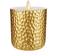 Bethlehem Lights 4.5 Hammered Metallic Touch Candle - H213519