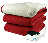 Biddeford Knit Full Size Heated Blanket with Sherpa Back - H282419
