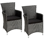 Cosco Outdoor Set of 2 Dining Chair with Cushion - H282719