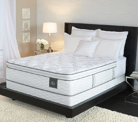 Serta deluxe retreat super pillowtop queen set page 1 for Online shopping for mattress