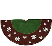 48 Tree Skirt with Snowflake Applique by Northlight - H287719