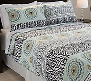 Lavish Home Muna Embroidered 3-Piece Full/QueenQuilt Set - H288719