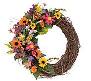 19 Summer Wildflower Wreath by Valerie - H289119