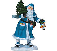 Limited Edition Santa Skating Figurine by Pipka - H292919