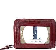 Lee Sands Eelskin Double Zip Accordian Small Wallet - H293619