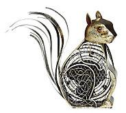 Deco Breeze Hand Sculpted Metal Decorative Squirrel Fan - H350819