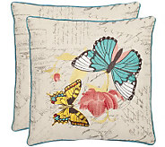 Safavieh S/2 18x18 Ilavia Butterfly AppliquePillows - H360619