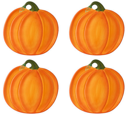 Pumpkin Shaped Plates by