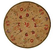 Anatolia 6 Round Beige Handtufted Oriental Wool Rug - H183620