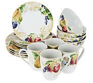 Lenox Garden Mural 16-pc Stoneware Service for 4 Dinnerware Set - H201620