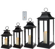 Luminara Heritage Indoor Outdoor Lantern with Candle & Remote