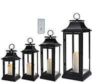 Luminara Heritage Indoor Outdoor Lantern with Flameless Candle & Remote - H205420